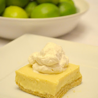 Key Lime Cheesecake Bars With Almond Cookie Crust