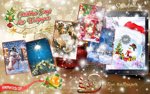 Christmas Songs Live Wallpaper with Music ud83cudfb6 2.8 screenshots 8