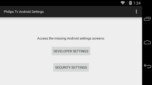 Philips Tv Android Settings