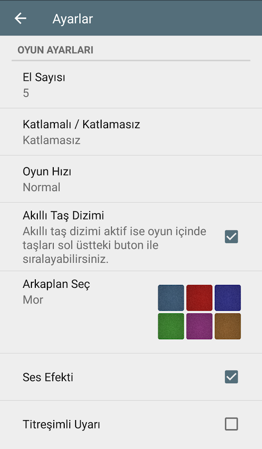 101 Okey - İnternetsiz- screenshot