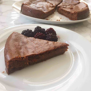 Healthy Flourless Peanut Butter Brownie Cake Vegan + Gluten Free.