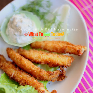 FISH GOUJON with DILL MAYONNAISE Recipe