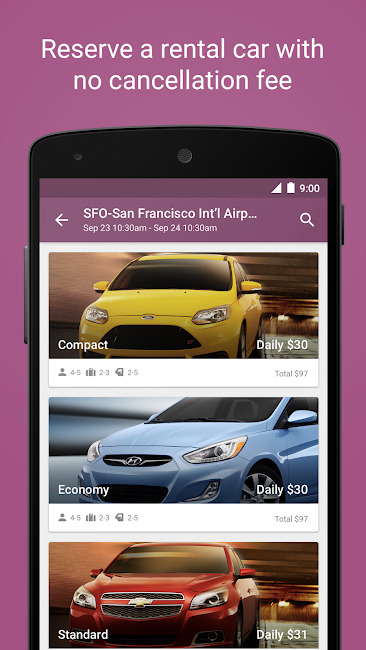 #6. Expedia Hotels, Flights & Cars (Android)