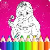 Princess Coloring Book for Kids