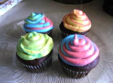 Tie-Dyed Chocolate Cupcakes