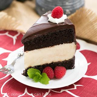Cheesecake Filled Chocolate Cake.