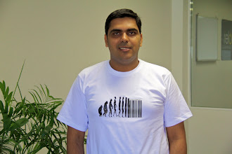Photo: Piyush continues his tradition of awesome geek shirts into the new year!