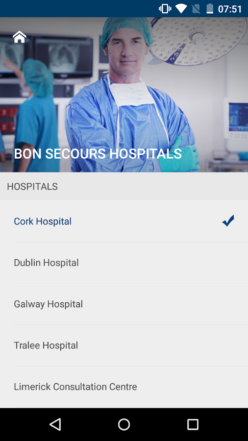 Bon Secours Hospitals, Ireland- screenshot