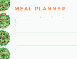 Salads Meal Planner - Weekly Schedule item