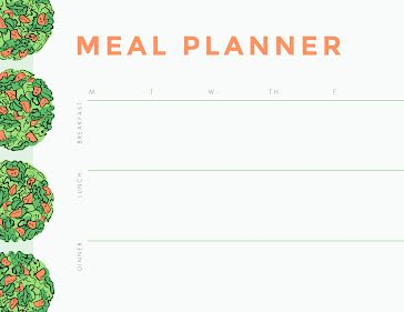 Salads Meal Planner - Planner template