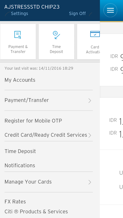 Citibank Indonesia- screenshot