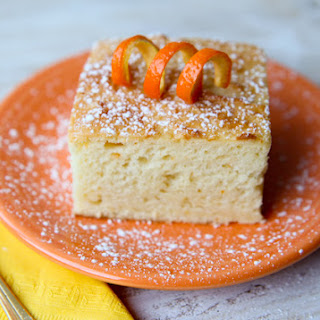 Three Ingredient Low-Fat Creamsicle Cake.