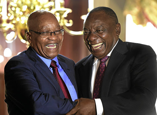 The battle between Jacob Zuma and Cyril Ramaphosa factions has little to do with differing political ideals, it is all about who gets to control the public purse. / Kopano Tlape