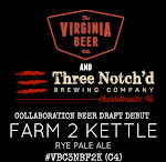 Virginia Beer Co. / Three Notch'd Brewing Co. Farm 2 Kettle Rye Pale Ale