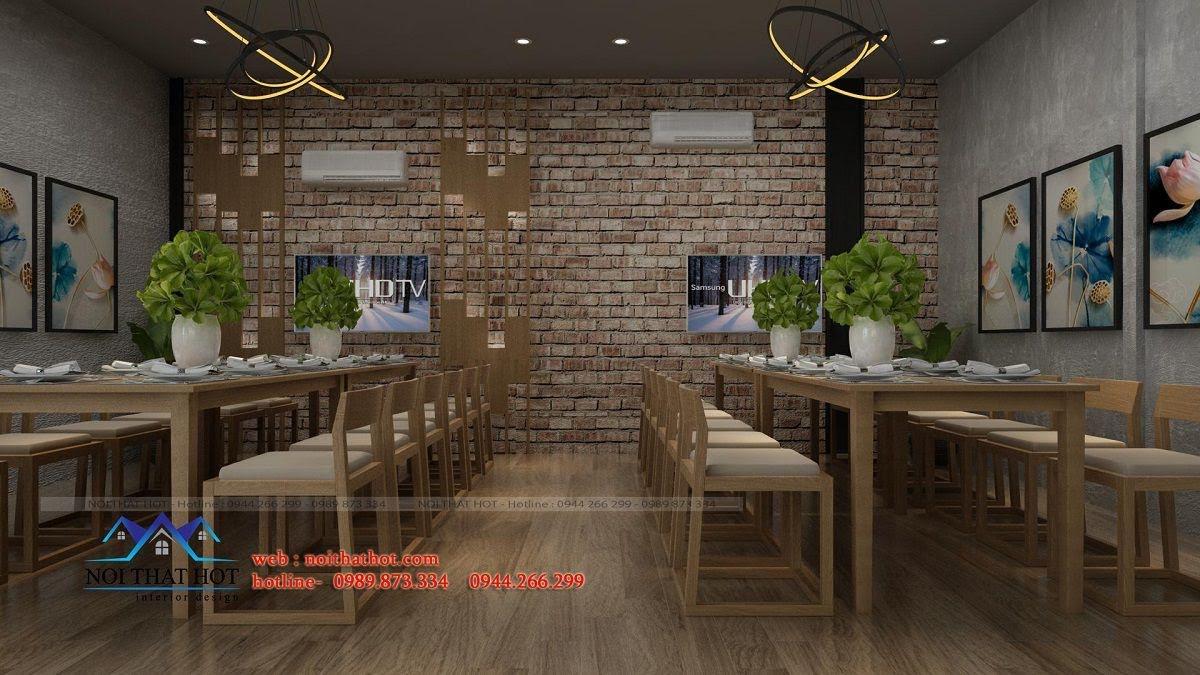 thiết kế nhà hàng khéo léo