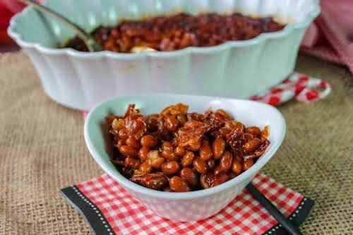 """Coffee Baked Beans""""One morning we had a little coffee left in our..."""