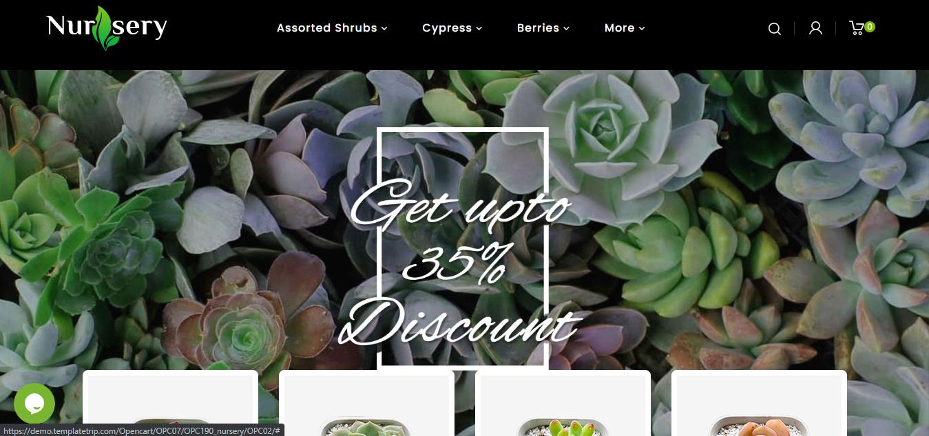 Nursey Plant - Opencart ecommerce theme