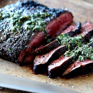 Spice-rubbed Flank Steak.