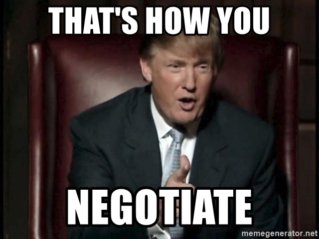 Trump teaching negotiation skills