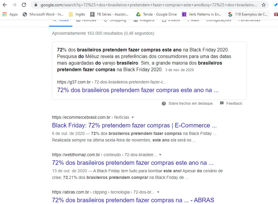 serp do google com domination para campanha de black friday