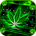 Neon Rasta Weed Wallpapers Keyboard Background icon