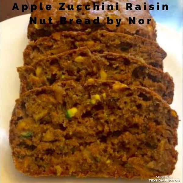 Zucchini, Apple, Carrot Raisin Nut Bread