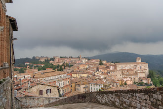Photo: View - north from Piazza Rossi Scotti, with the storm clouds overhead