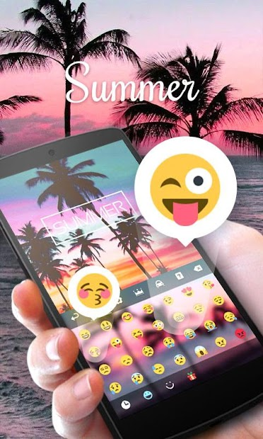 Summer GO Keyboard Theme Android App Screenshot