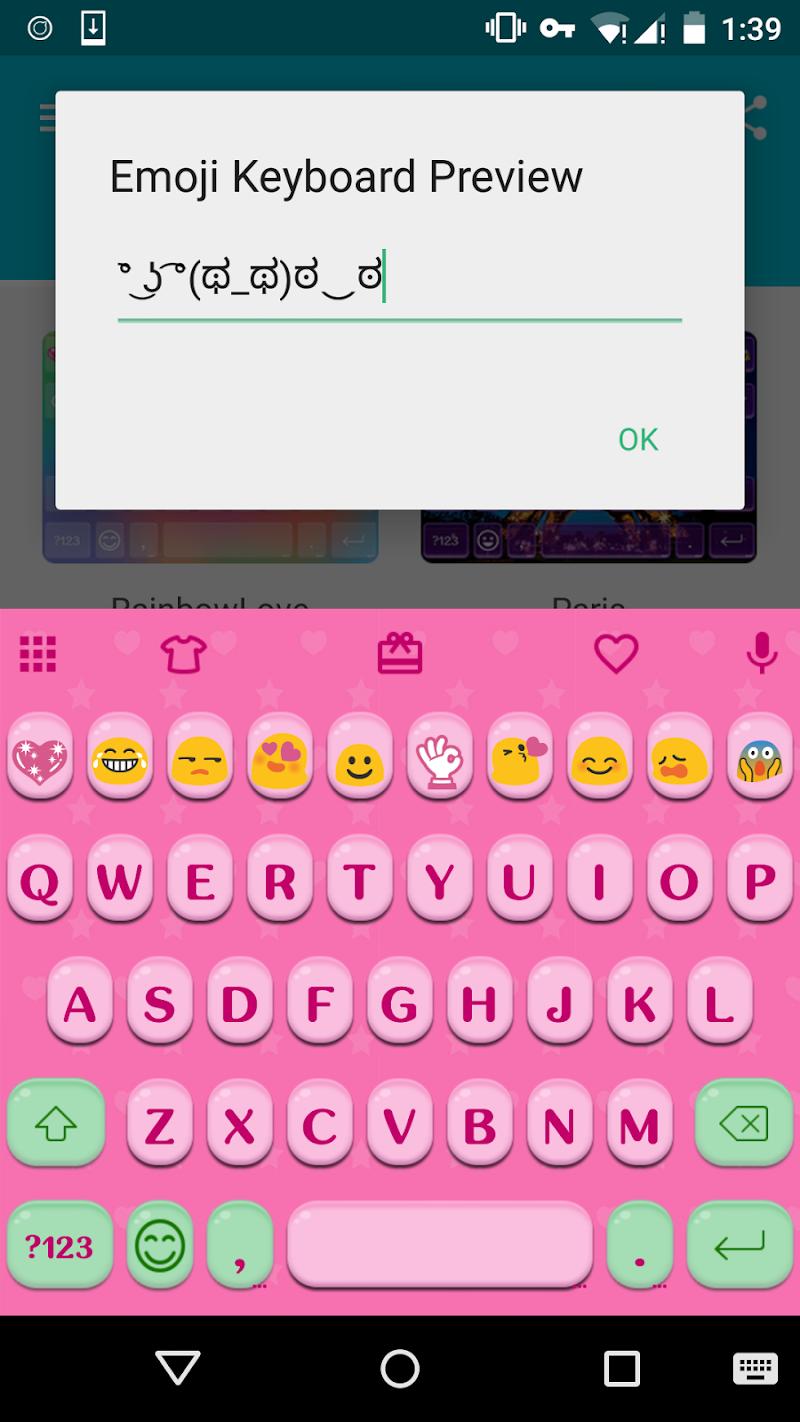 Скриншот Cute Fonts - Emoji Keyboard