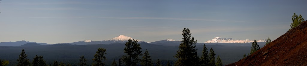 Photo: 3 sisters Lava Butte Newberry view.jpg