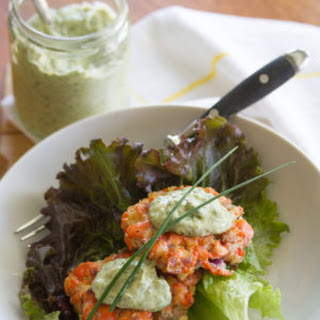 Sockeye Salmon Patties with Green Goddess Aioli