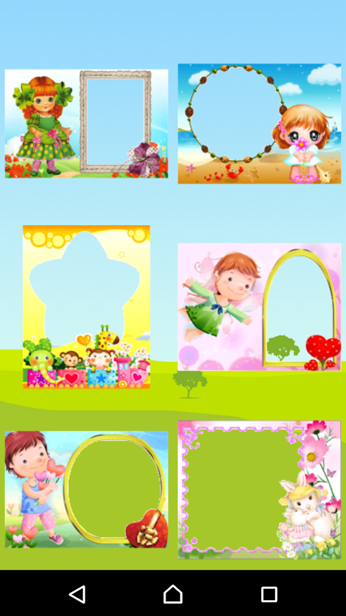 Kids Photo Frames - effects- screenshot