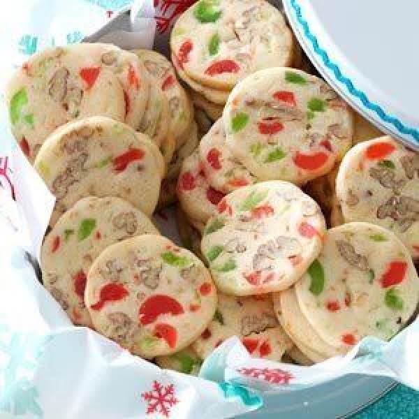 Cherry Christmas Slices