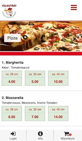 android Pizzeria Valentino Screenshot 2