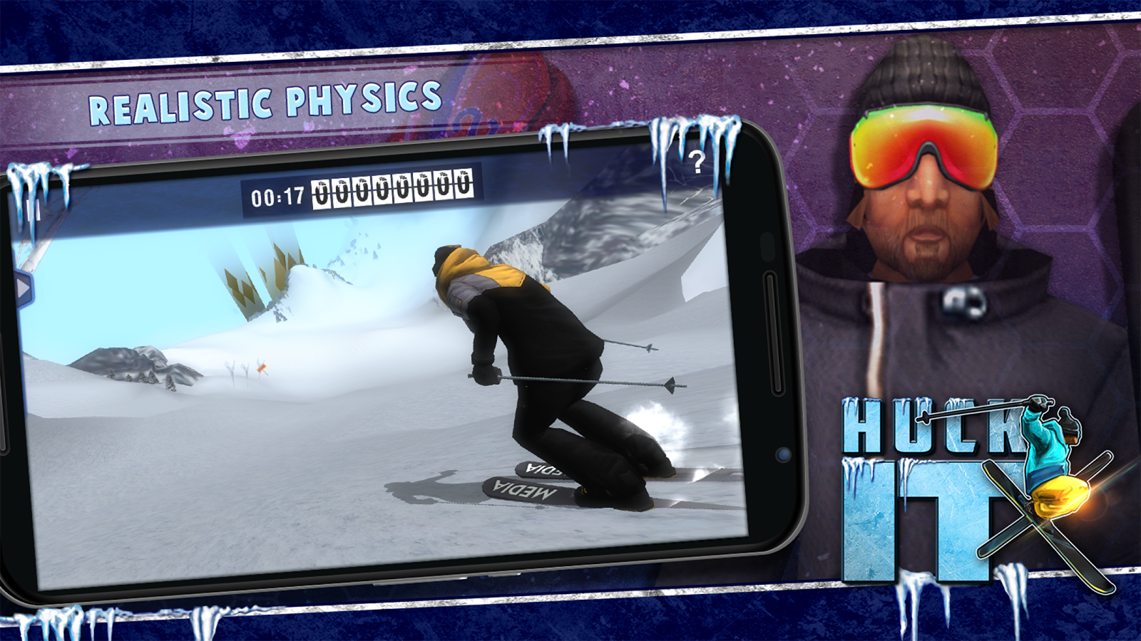 Huck It Skiing Game 3D- screenshot