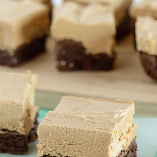 Chocolate Fudge Brownies with Cookie Butter Frosting.