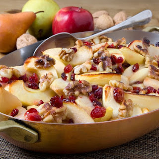 Walnut Dusted Oven-Baked Apples and Pears Recipe