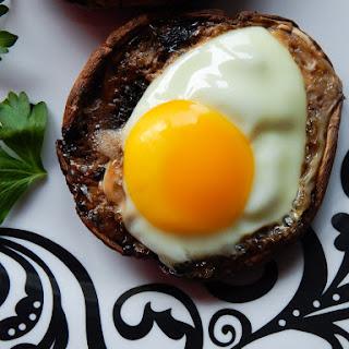 Baked Portobello Eggs