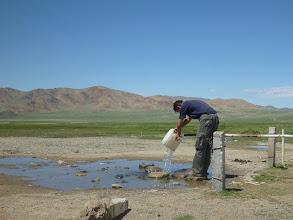 Photo: Občas jsme měli štěstí na zdroj pitné vody v poměrně nehostinné krajině.