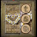 Flower Heart Wooden Launcher Theme icon