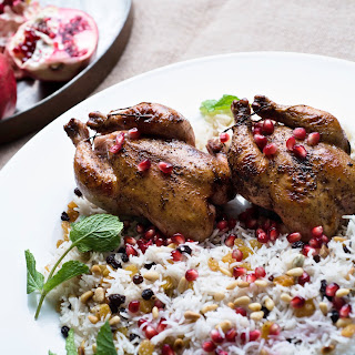 Game Hens With Sumac, Pomegranate and Cardamom Rice