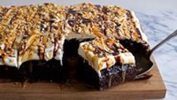 Chocolate-caramel-peanut Poke Cake Recipe
