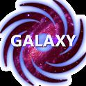 Beautiful galaxy background icon