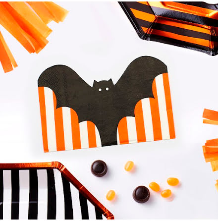 Servetter 20-pack, Pumpkin Party bat
