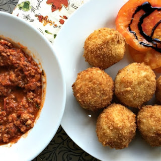Arancini with Meat Ragù Recipe {from Ellie Miller}