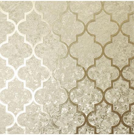 Arthouse Velvet Foil Trellis Tapet 294602 Guld