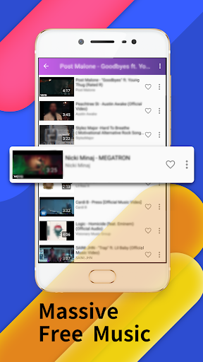 Floating Tunes-Free Music Video Player 2.0.1 screenshots n 1