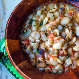 West African Stewed Lima beans