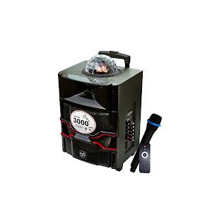 Boxa portabila RTS 10-1 BT, Bluetooth, glob disco, afisaj, Karaoke, Negru