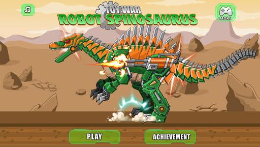 机器棘龙 组装机器恐龙大战